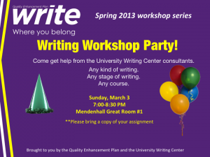 Writing Workshop Party