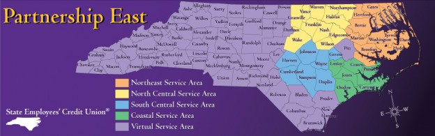 State Employee's Credit Union Partnership East Map