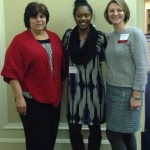 Ms. Ayla Allen (center) received a scholarship from NC Council for Exceptional Children. She is pictured here with NCCEC president Dr. Rose Matuszny (left) and president- elect Dr. Jessica Wery (right), at the state NCCEC Conference on Thursday, January 29, 2015.