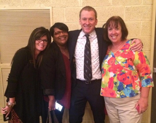 Ron Clark and The North Carolina New Teacher Support Program, ECU Regional Office staff