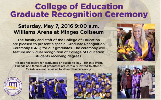 COE Graduation for May 2016