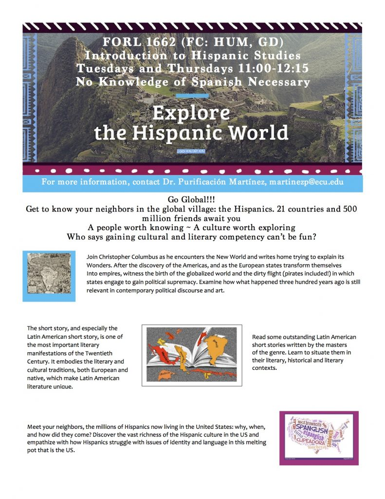 FORL 1662 Intro to Hispanic Studies