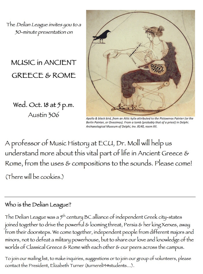 Ancient Music talk by Kevin Moll