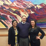 Shayna Mooney, Associate Dean Kevin Baxter, and Adrian Modzik before presenting