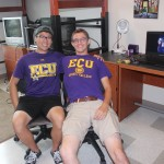 Roommates Kevin Nguyen and Cameron Worthington finish unpacking in their new home!