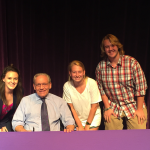 Pictured Left to Right: Lilian Faulconer, Bob Woodward, Madie Fleishman, Garrett Yarbrough