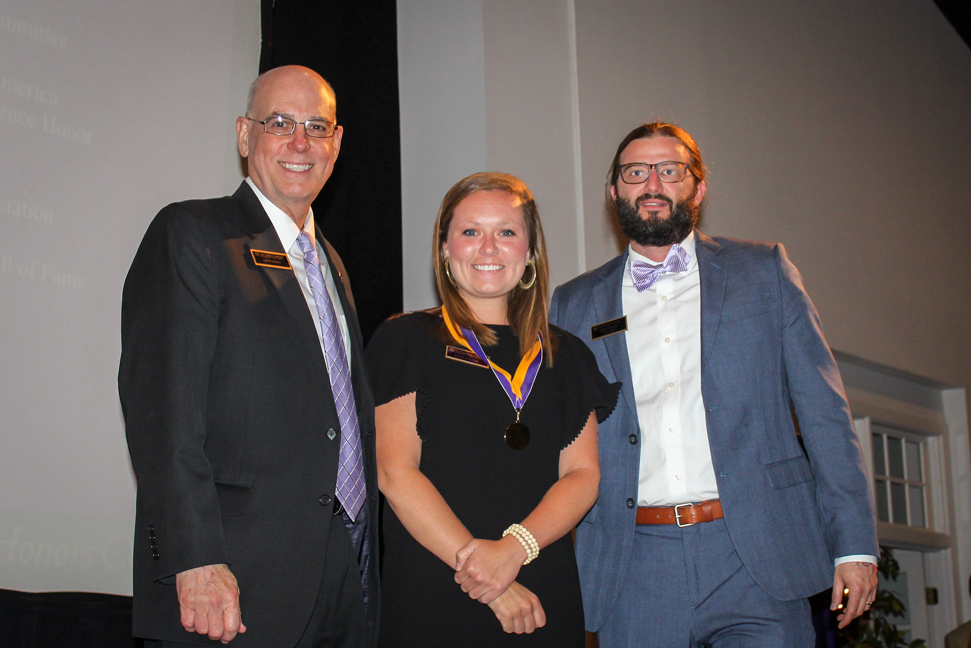 Pictured here at the 2017 ECU Honors College Commencement Ceremony, Katie Stanley (middle), was one of four recent UNC system graduates named a Presidential Scholar by UNC President Margaret Spellings Thursday, July 20.