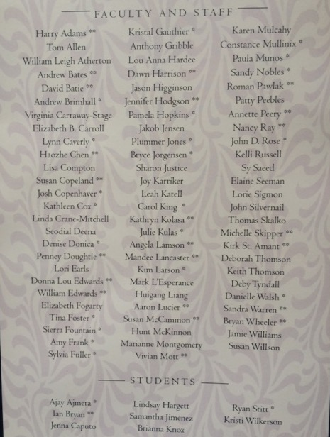 Servire Society Inductees